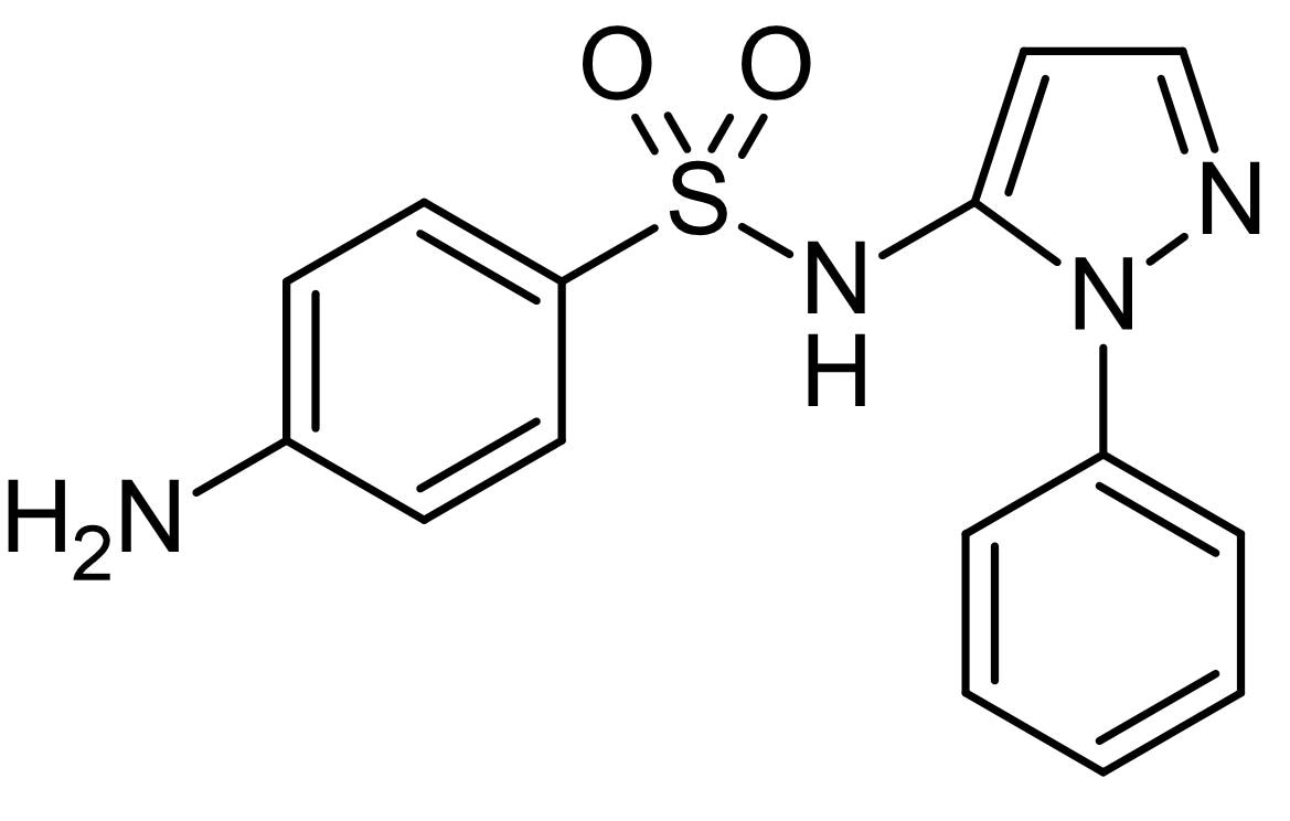 Chemical Structure - Sulfaphenazole, CYP2C9 inhibitor (ab145038)