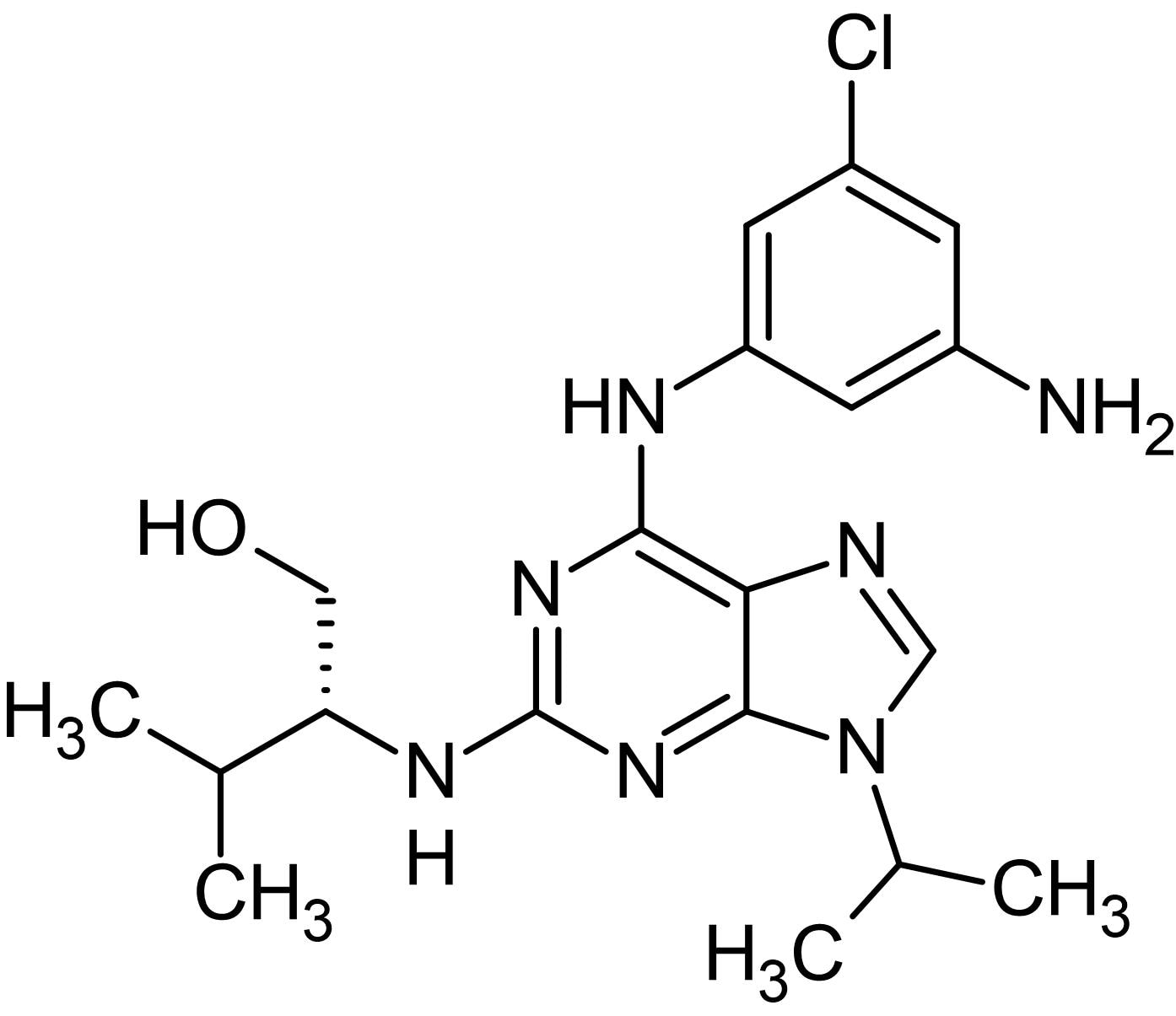 Chemical Structure - Aminopurvalanol A, cyclin-dependent kinase inhibitor (ab145052)