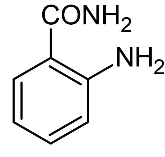Chemical Structure - 2-Aminobenzamide, fluorescent label for glycans (ab145071)