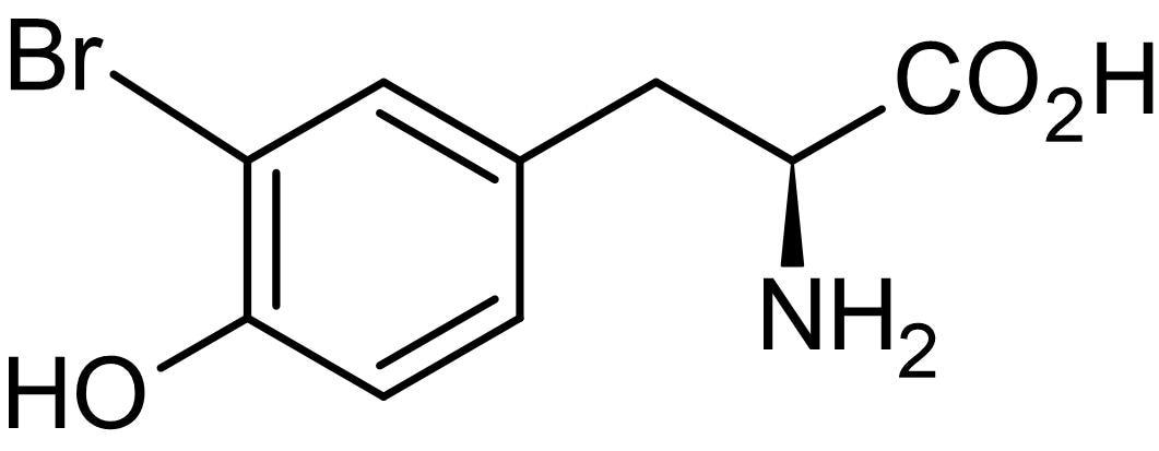 Chemical Structure - L-3-Bromotyrosine, Bromo derivative of tyrosine (ab145091)