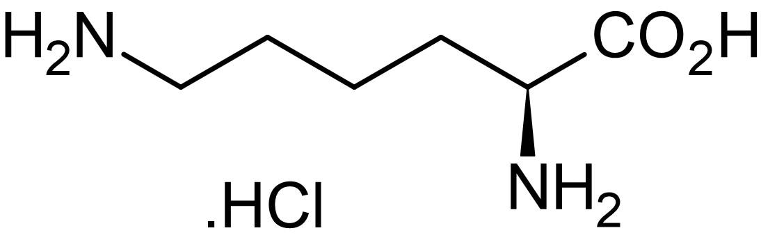 Chemical Structure - Lysine hydrochloride, naturally occurring amino acid (ab145111)
