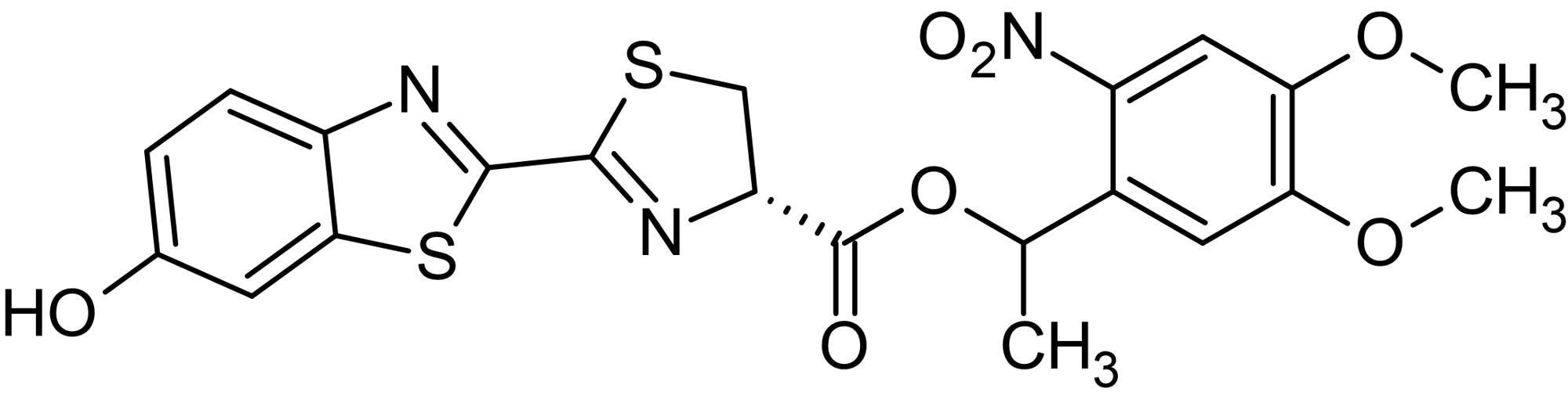 Chemical Structure - DMNPE-caged Luciferin, D-Luciferin precursor (ab145163)