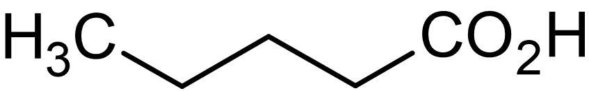 Chemical Structure - n-Valeric acid (n-Pentanoic acid), short chain fatty acid (ab145166)