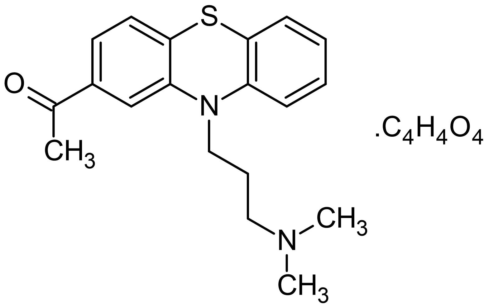 Chemical Structure - Acepromazine maleate, dopamine, 5-HT1 and 5-HT2 receptor antagonist (ab145170)
