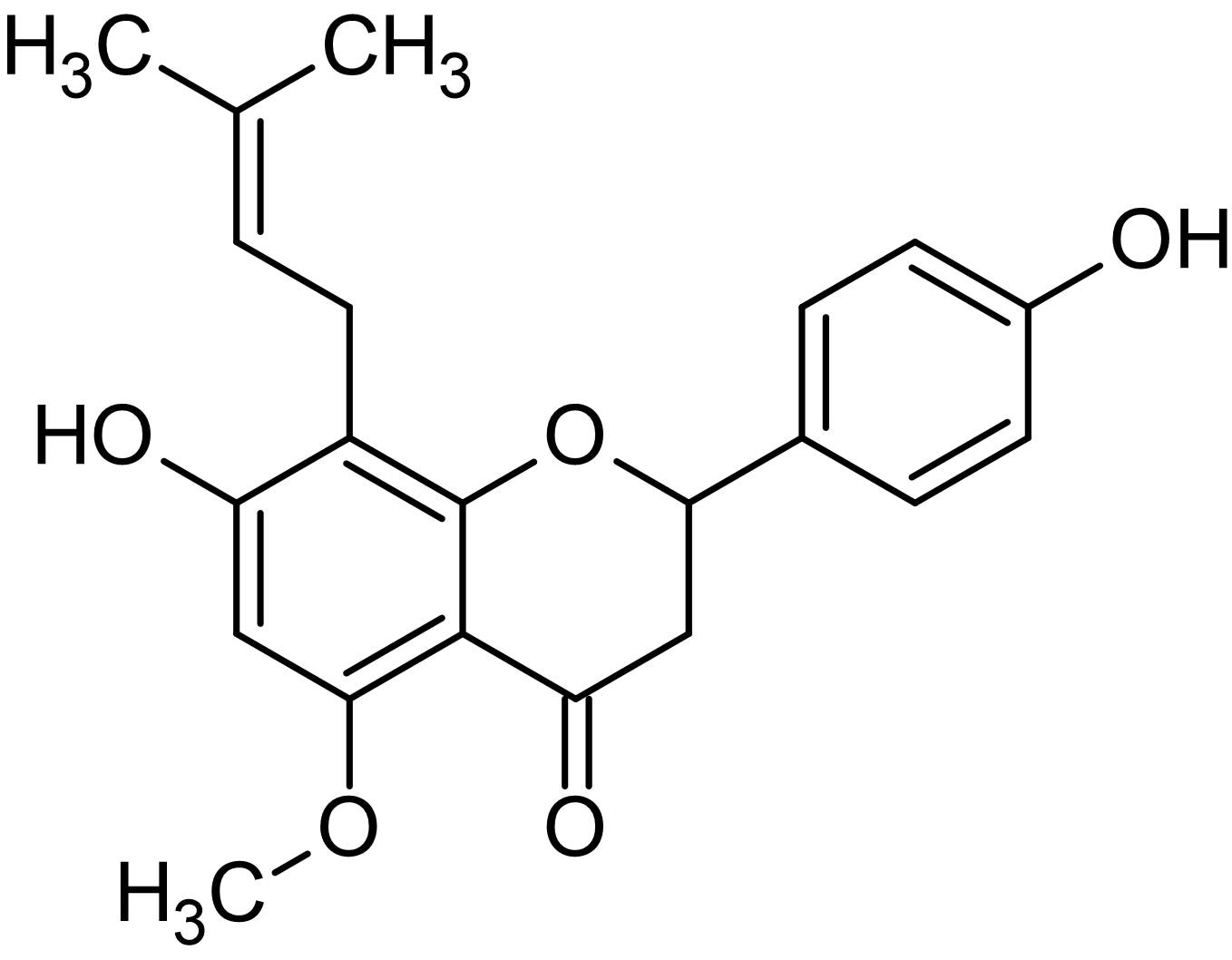Chemical Structure - Isoxanthohumol, Phytoestrogen (ab145172)