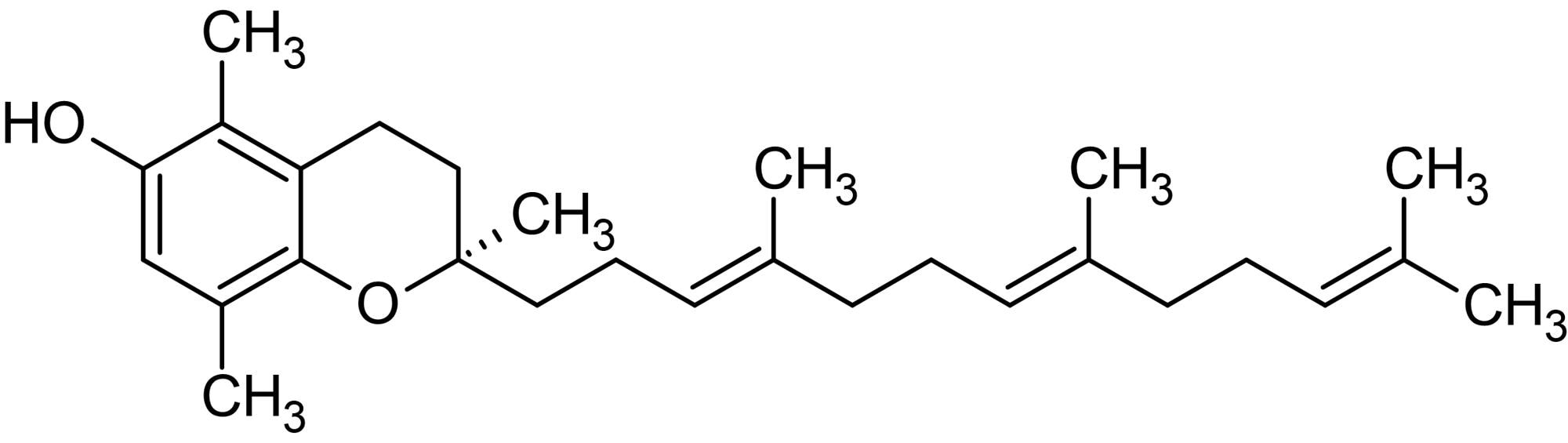 Chemical Structure - beta-Tocotrienol, Antioxidant agent (ab145176)