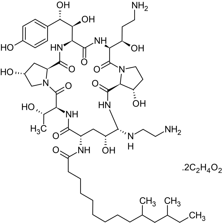 Chemical Structure - Caspofungin acetate, Antifungal agent (ab145180)
