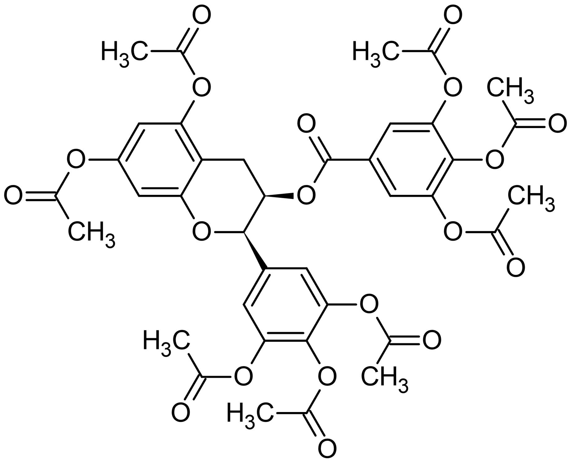 Chemical Structure - Epigallocatechin gallate octaacetate, Anticancer and antiangiogenic agent (ab145182)