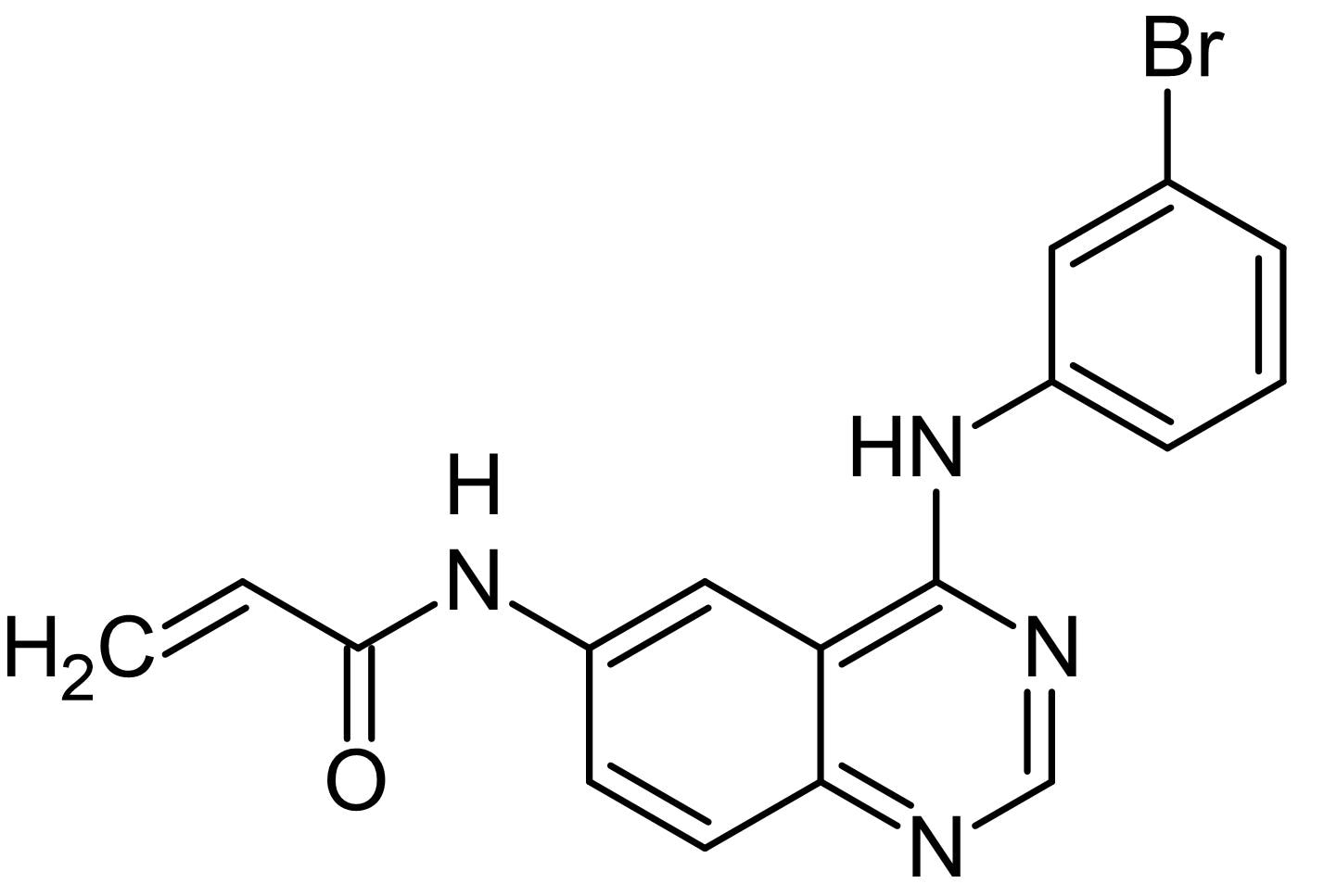 Chemical Structure - PD 168393, EGFR inhibitor (ab145187)