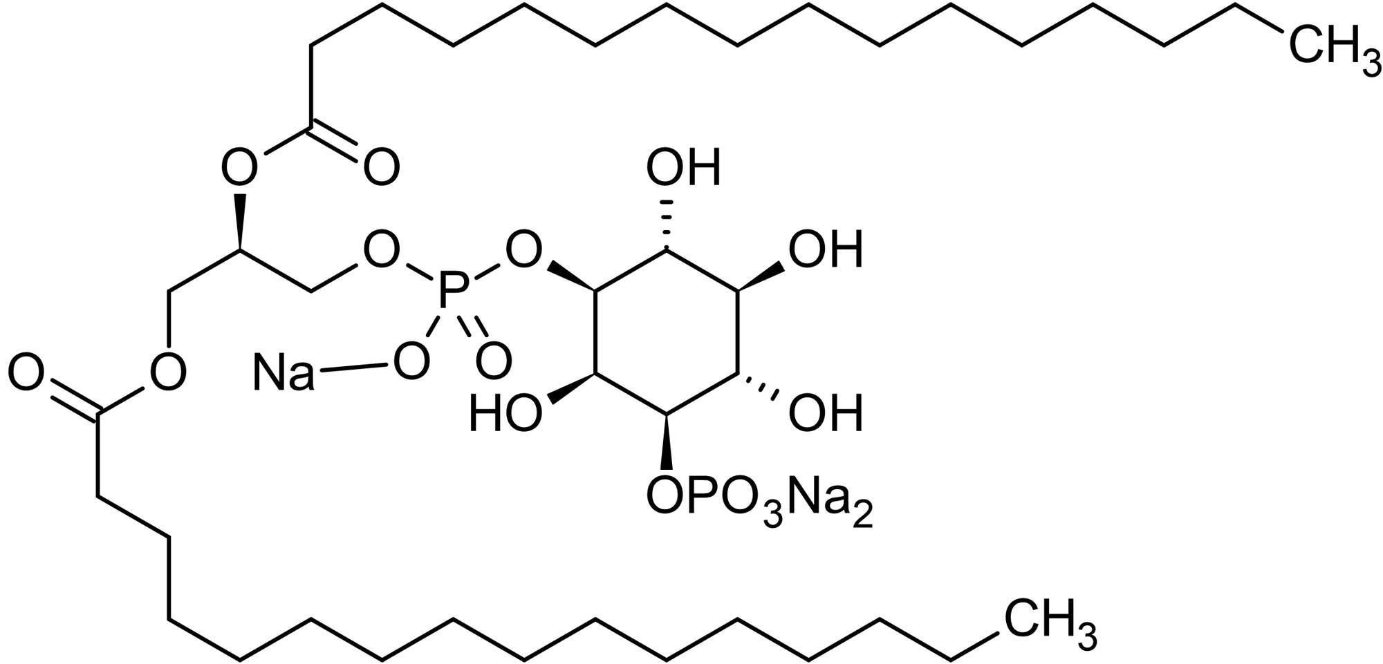 Chemical Structure - L-alpha-Phosphatidylinositol-3-phosphate sodium salt (ab145220)