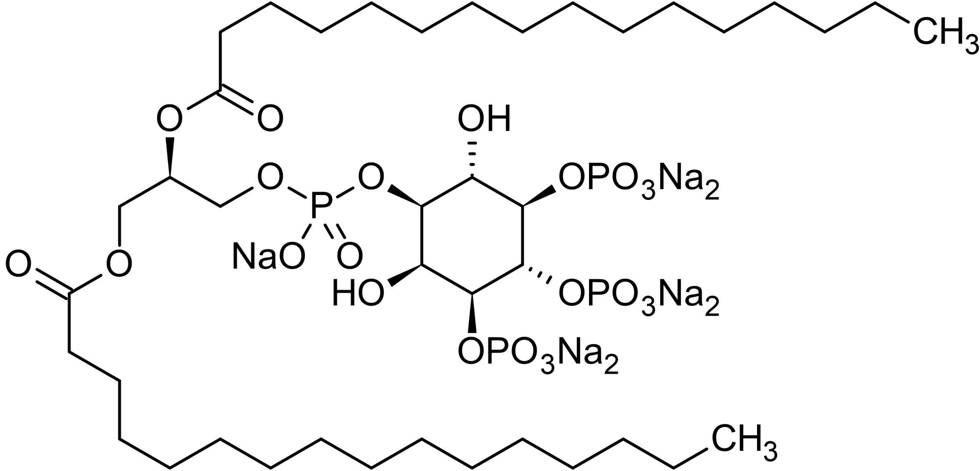 Chemical Structure - L-alpha-Phosphatidylinositol-3,4,5-trisphosphate sodium salt, PKC delta, epsilon and eta activator (ab145221)