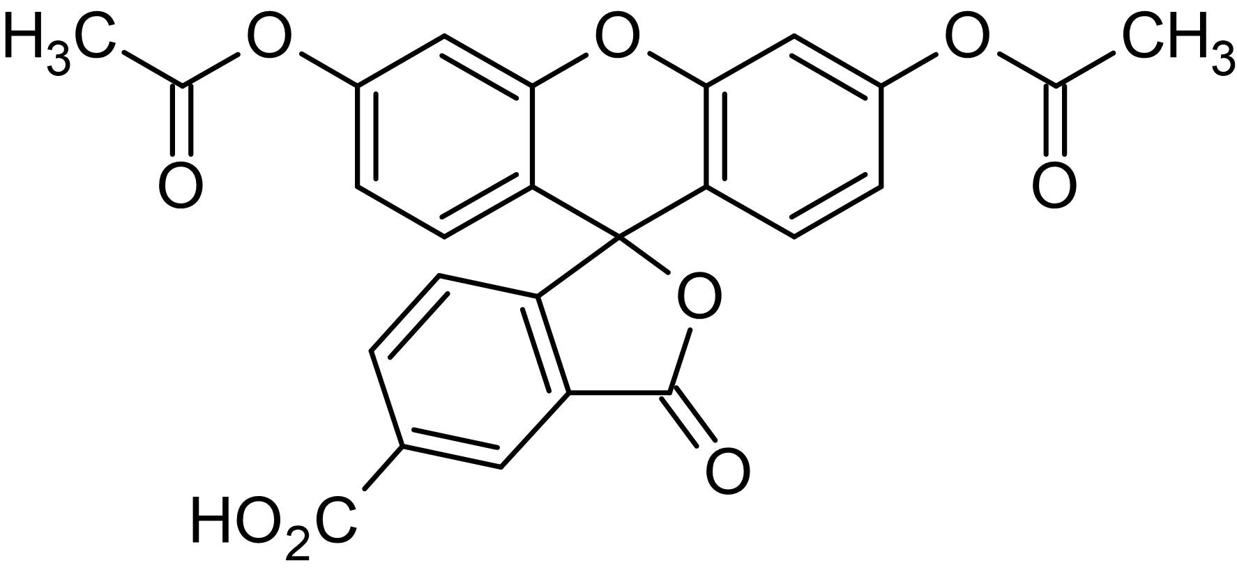 Chemical Structure - 5-CFDA (5-Carboxyfluorescein Diacetate), Fluorogenic non-selective esterase substrate (ab145256)