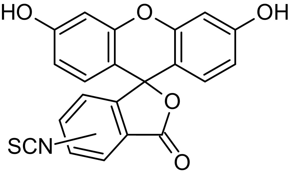 Chemical Structure - 5(6)-FITC (Fluorescein 5(6)-isothiocyanate), Fluorescent amine-reactive label (ab145258)