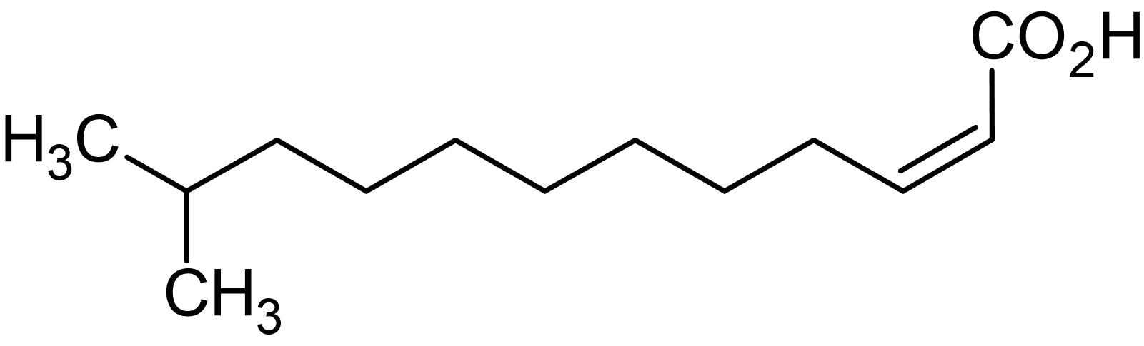 Chemical Structure - cis-11-Methyl-2-dodecenoic acid, Diffusible signal factor (ab145274)