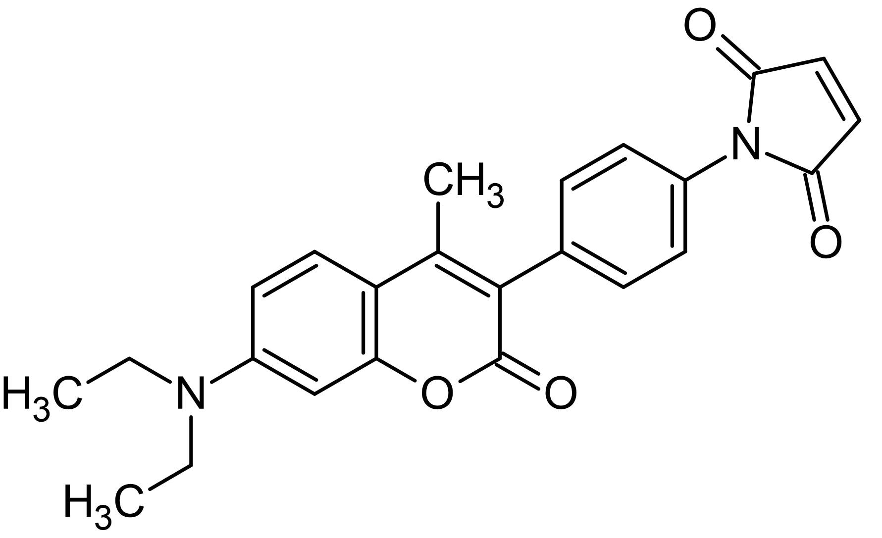 Chemical Structure - CPM, Thiol-reactive fluorescent probe (ab145275)