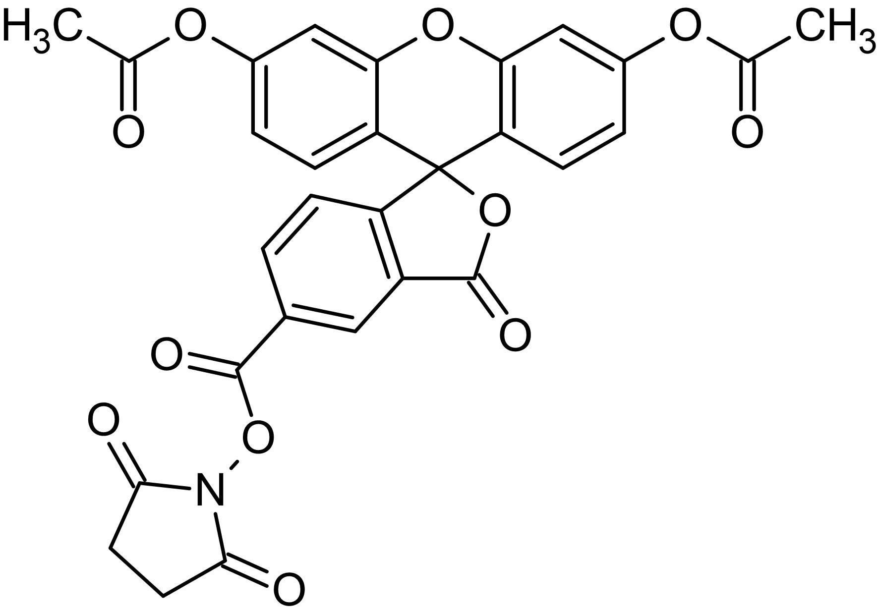 Chemical Structure - 5-CFDA N-succinimidyl ester, Fluorogenic esterase substrate (ab145292)