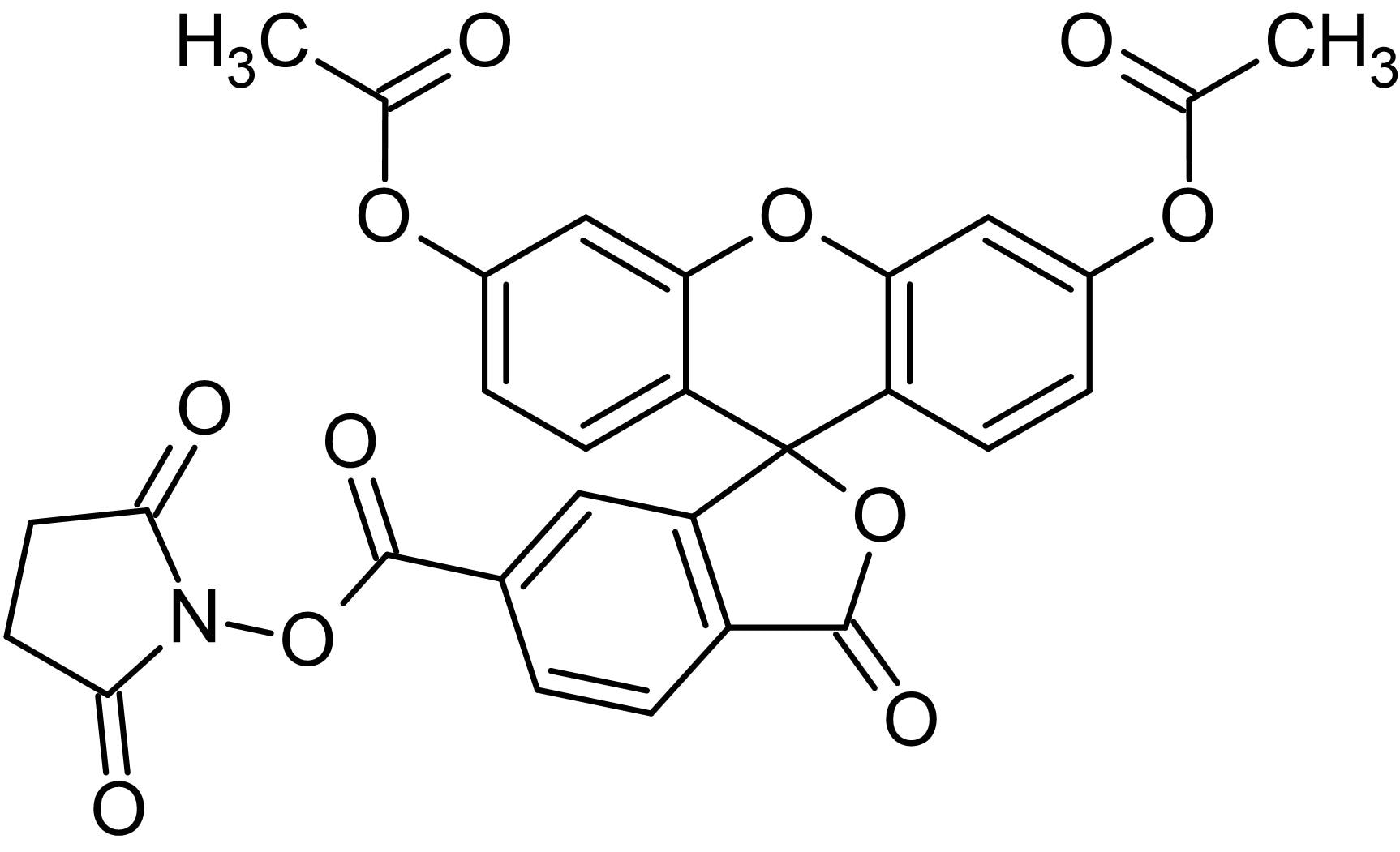 Chemical Structure - 6-CFDA N-succinimidyl ester, Fluorogenic esterase substrate (ab145296)