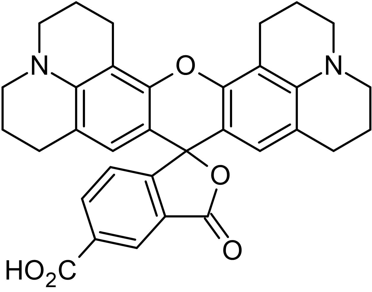 Chemical Structure - 5-ROX (5-carboxy-X-rhodamine), Fluorescent oligonucleotide marker (ab145309)