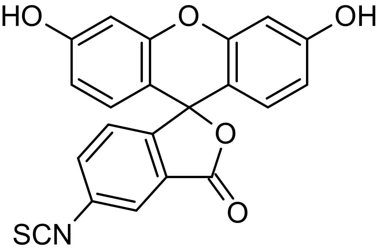 Chemical Structure - 5-FITC (5-Fluorescein Isothiocyanate), Fluorescent marker (ab145325)