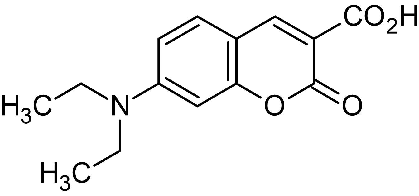Chemical Structure - 7-Diethylaminocoumarin-3-carboxylic acid, amine and protein derivatisation reagent (ab145332)