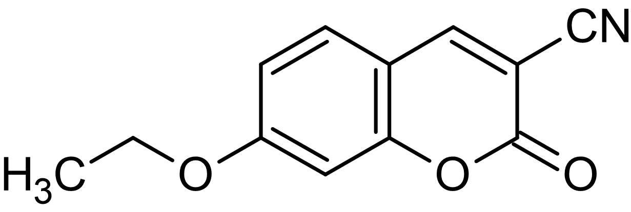Chemical Structure - 3-Cyano-7-ethoxycoumarin, Fluorogenic cytochrome P450 monooxygenase substrate (ab145344)