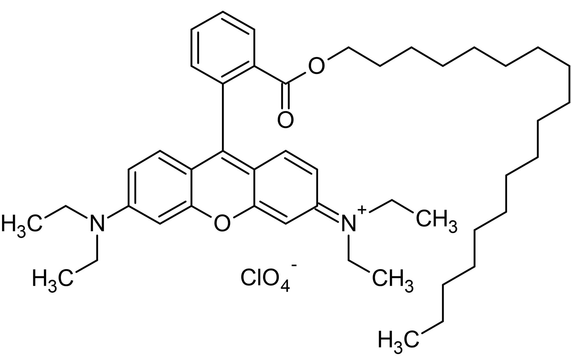 Chemical Structure - Rhodamine B octadecyl ester perchlorate, Lipophilic energy transfer acceptor (ab145364)