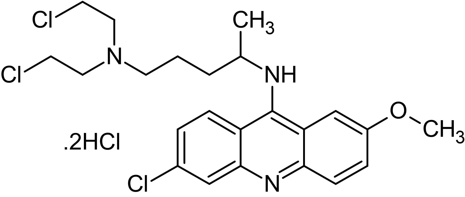 Chemical Structure - Quinacrine mustard dihydrochloride, Fluorescent probe for labeling chromosomal DNA (ab145375)