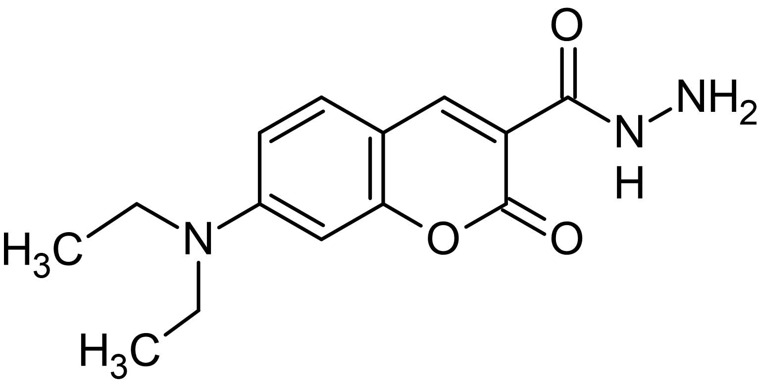 Chemical Structure - 7-(Diethylamino)coumarin-3-carbohydrazide, derivatizing agent for carboxylic acid detection (ab145377)