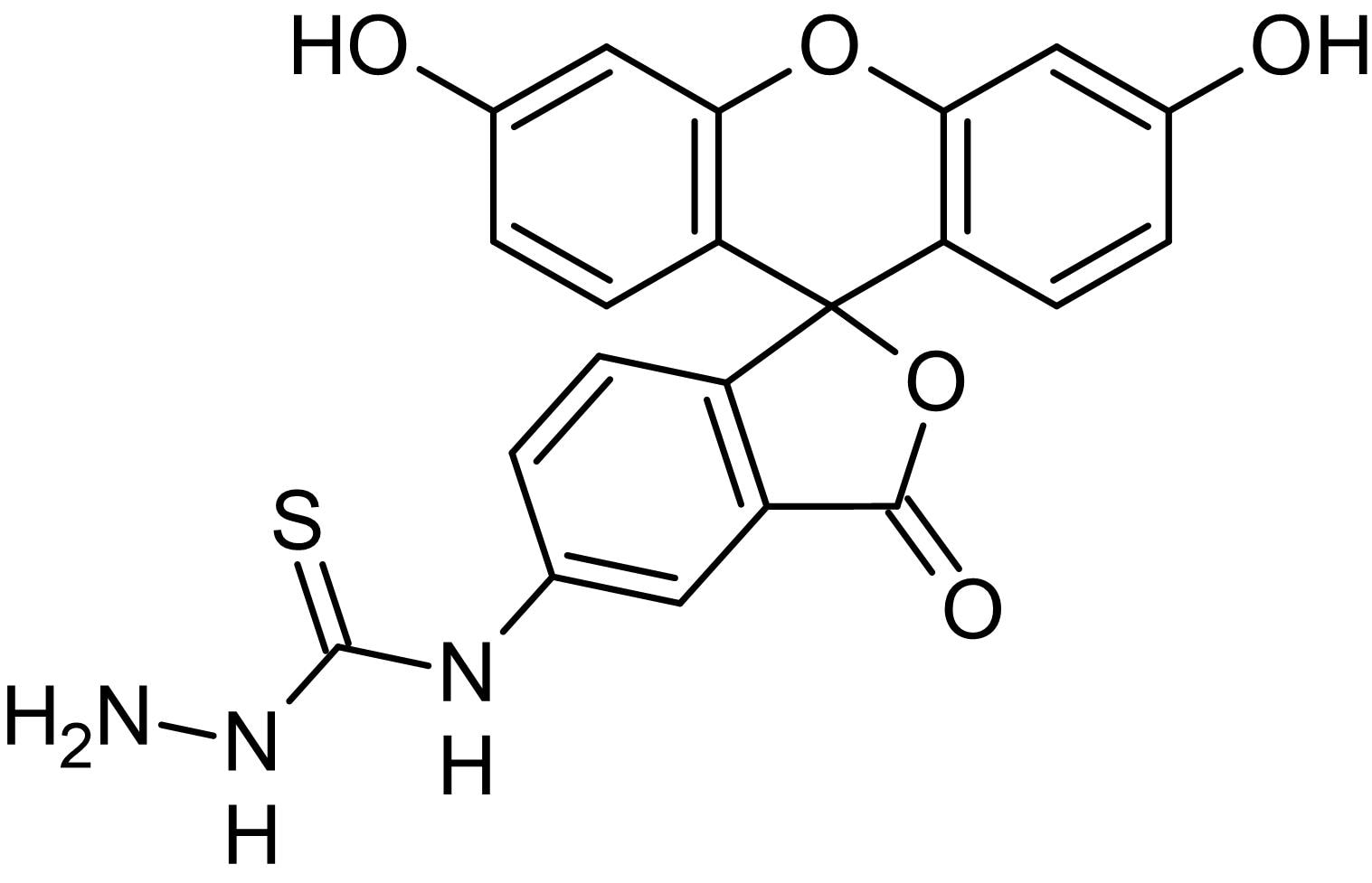 Chemical Structure - Fluorescein-5-thiosemicarbazide, Fluorescent tag (ab145390)