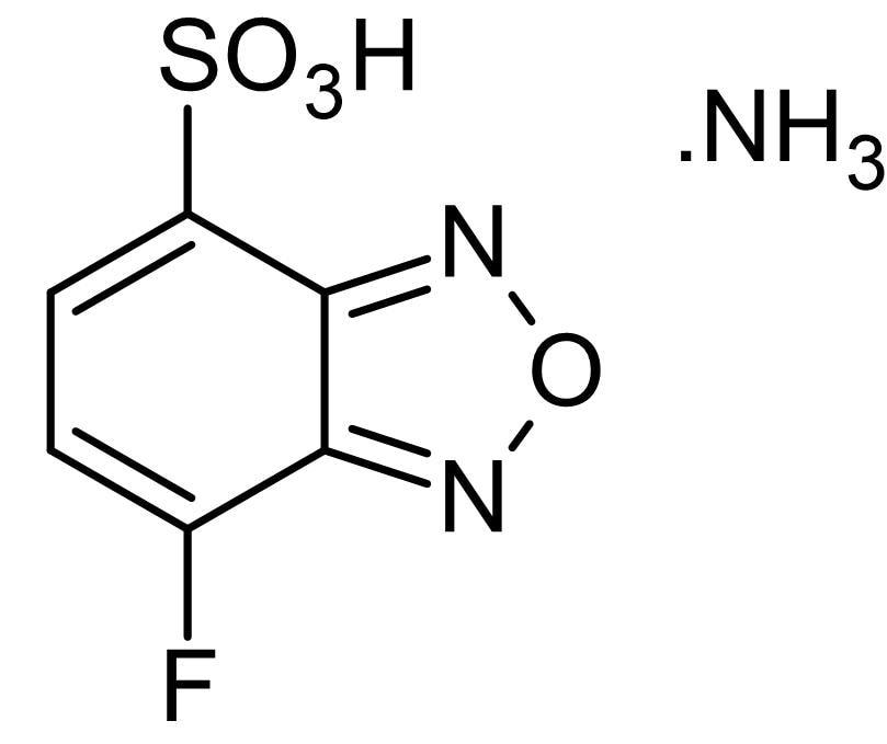 Chemical Structure - SBD-F (7-Fluorobenzofurazan-4-sulfonic acid ammonium salt), Fluorescent thiol indicator (ab145405)