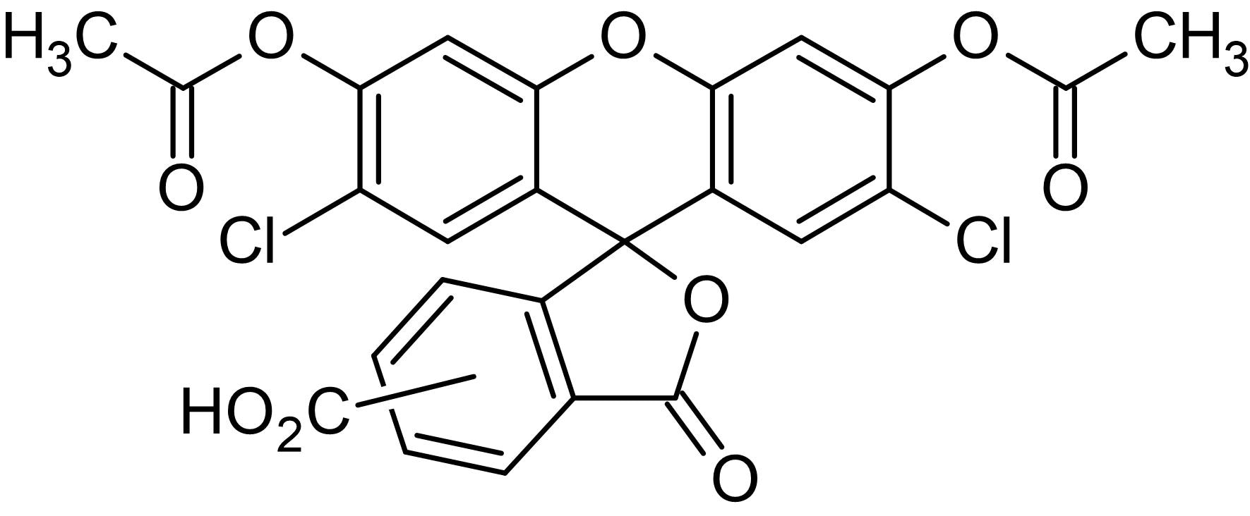 Chemical Structure - DFCA DA (5(6)-Carboxy-2',7'-dichlorofluorescein diacetate), Fluorogenic esterase substrate (ab145415)