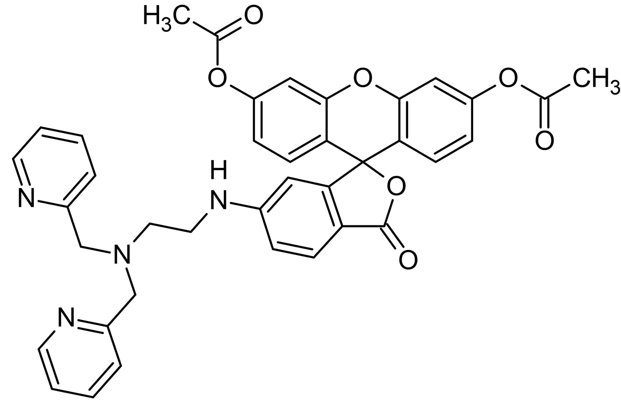 Chemical Structure - ZnAF-2 DA, Fluorescent Zn<sup>2+</sup> probe (ab145422)