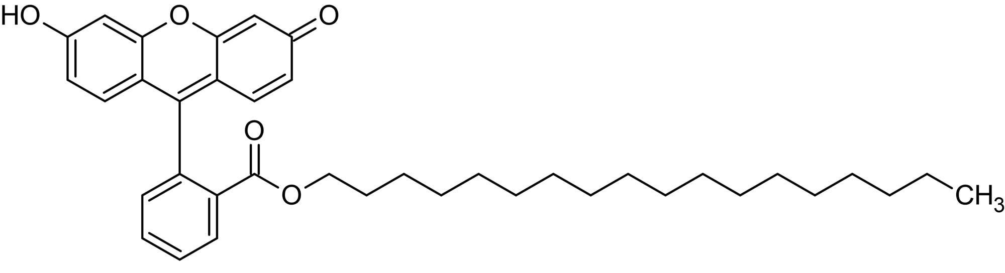 Chemical Structure - Fluorescein octadecyl ester, Lipophilic fluorescent pH indicator (ab145431)