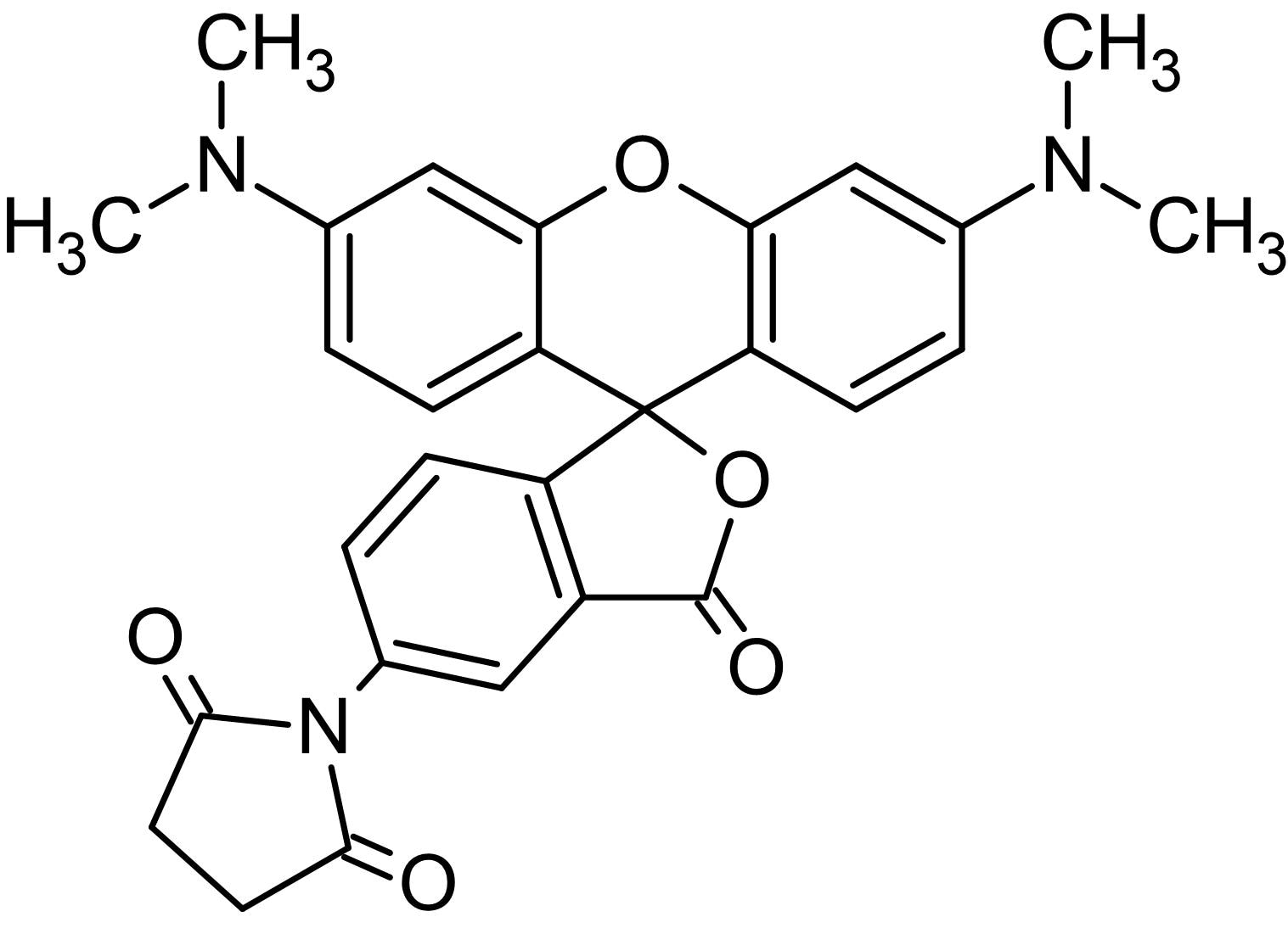 Chemical Structure - Tetramethylrhodamine-5-maleimide, Labeling reagent for protein thiols (ab145443)
