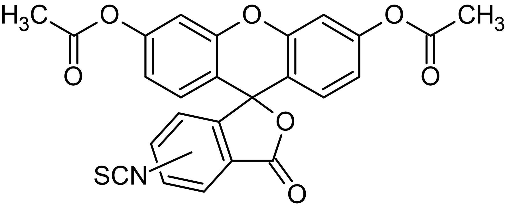 Chemical Structure - 5(6)-FITC DA, Fluorogenic esterase substrate (ab145463)