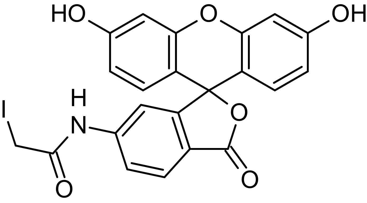 Chemical Structure - 6-IAF (6-Iodoacetamidofluorescein), Thiol-reactive fluorescent label (ab145464)