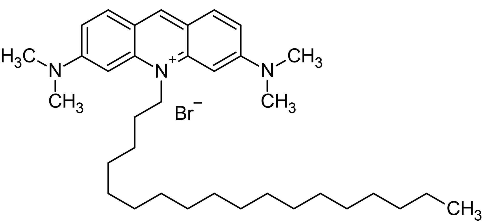 Chemical Structure - 10-Octadecylacridine orange bromide, Fluorescent reagent (ab145469)