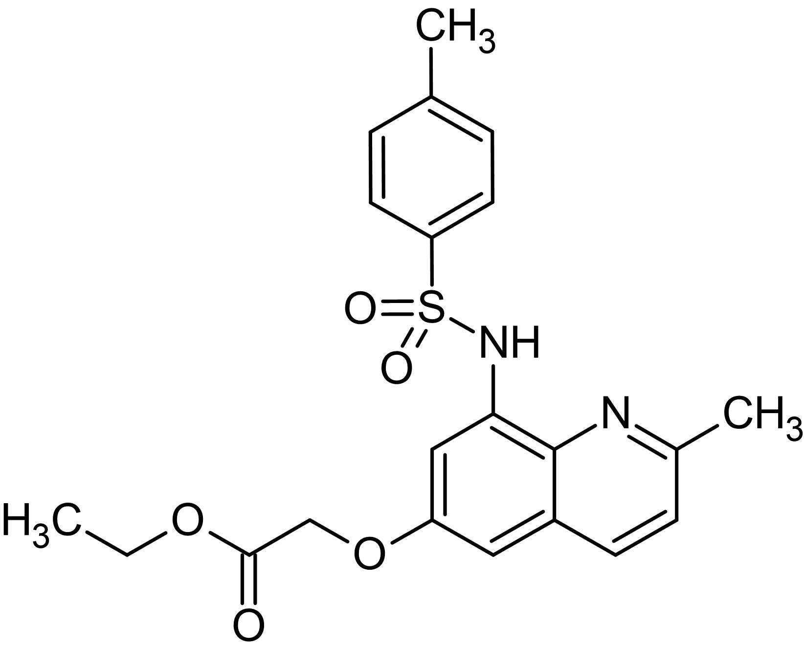 Chemical Structure - Zinquin ethyl ester, Zn<sup>2+</sup> selective fluorescent probe (ab145478)