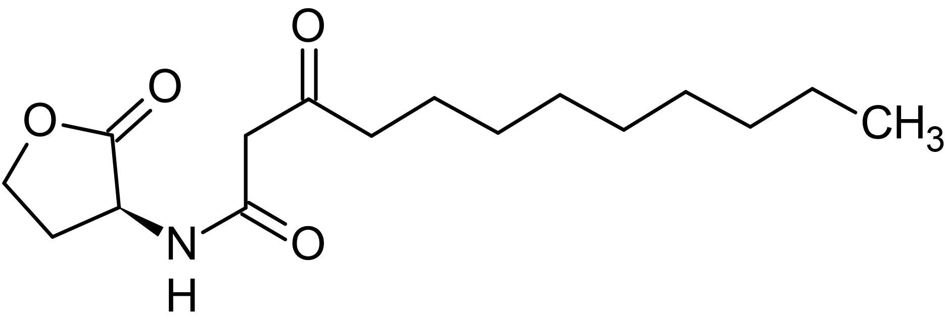 Chemical Structure - N-(3-Oxododecanoyl)-L-homoserine lactone, involved in quorum sensing (ab145509)