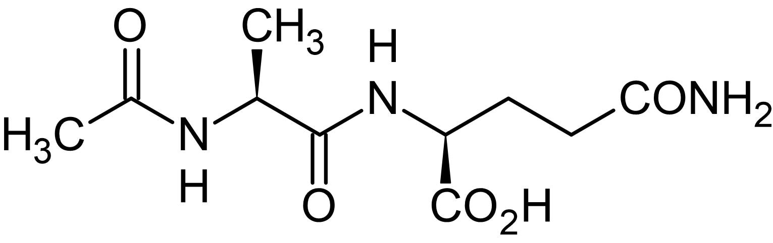 Chemical Structure - Acetyl-L-alanyl-L-glutamine, Polypeptide (ab145520)