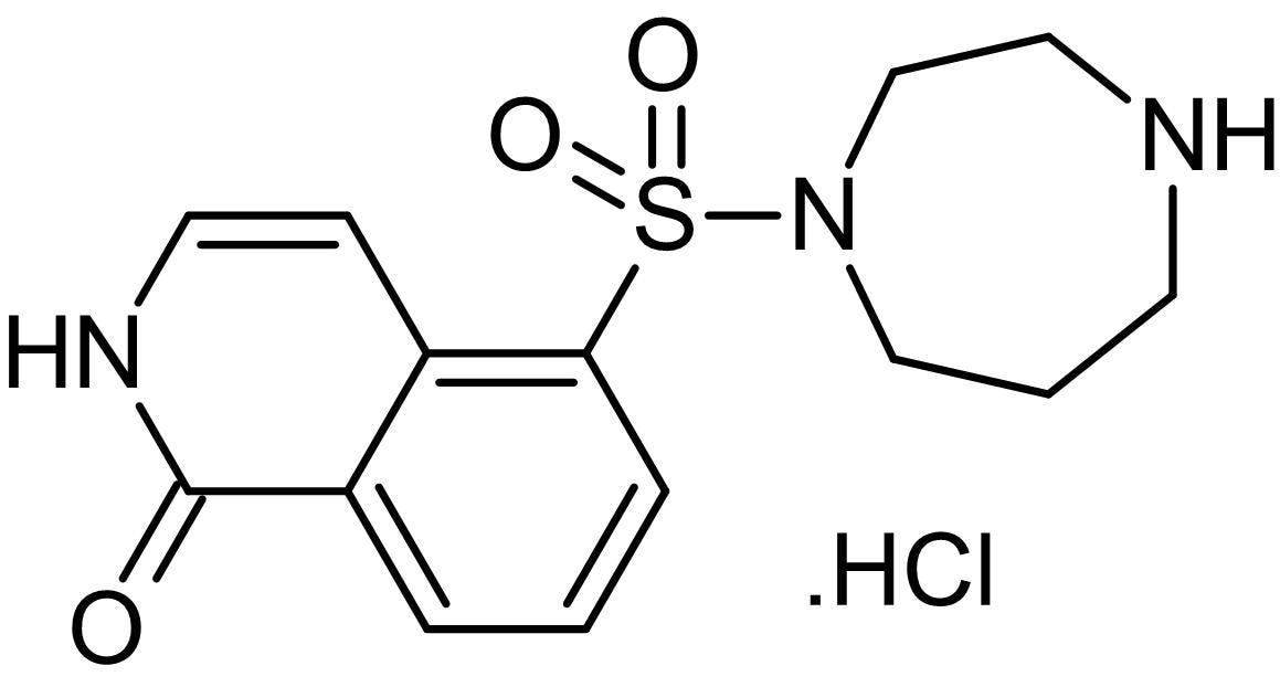 Chemical Structure - HA 1100 hydrochloride (Hydroxyfasudil), Rho-kinase inhibitor (ab145524)