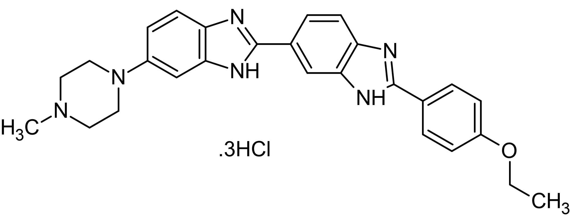 Chemical Structure - Bisbenzimide H 33342 (Hoechst 33342), adenine-thymine selective DNA fluorescent stain (ab145597)