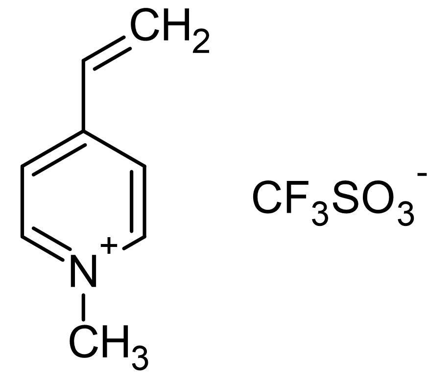 Chemical Structure - 1-Methyl-4-vinylpyridinium triflate, Thiol scavenging agent (ab145627)