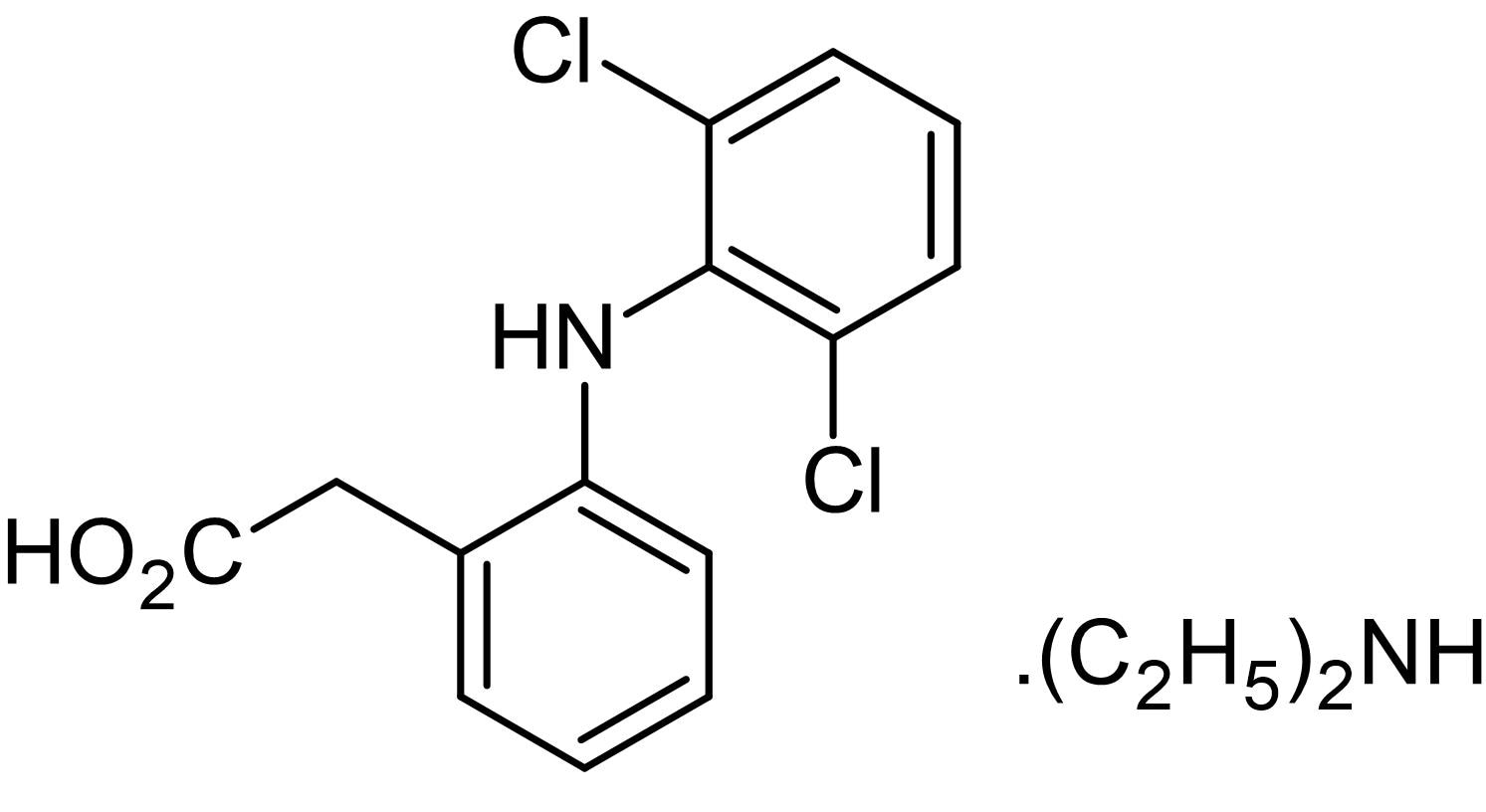 Chemical Structure - Diclofenac diethylamine, analgesic agent (ab145703)