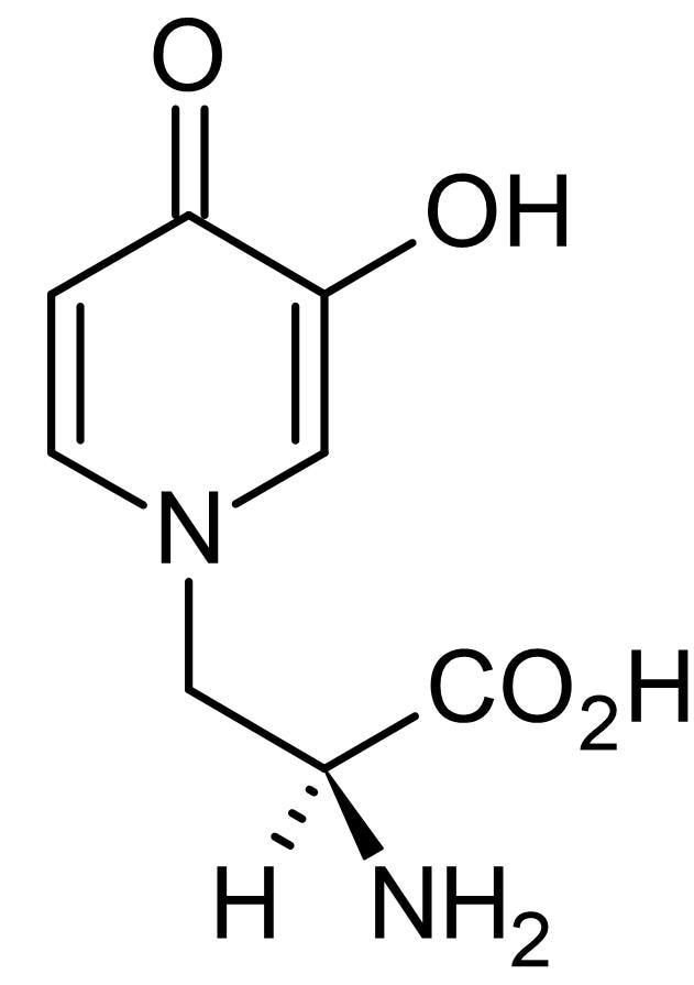 Chemical Structure - L-Mimosine, non-protein amino acid (ab145861)