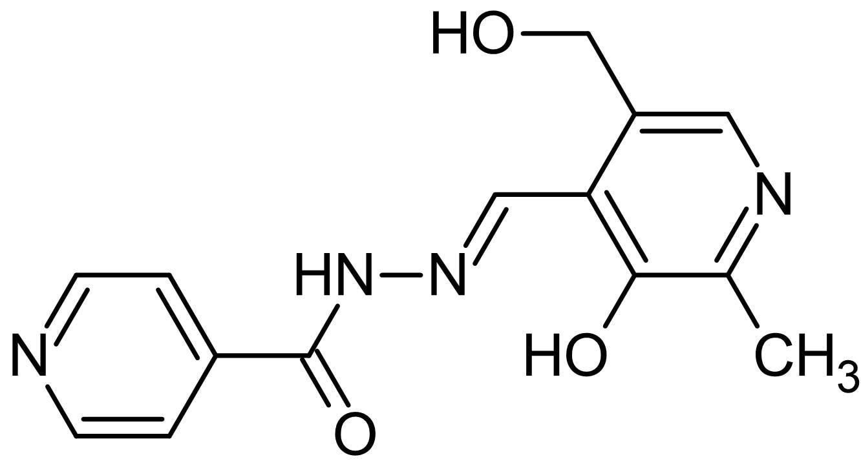 Chemical Structure - Pyridoxal isonicotinoyl hydrazone (PIH), hydrazone iron chelator (ab145871)