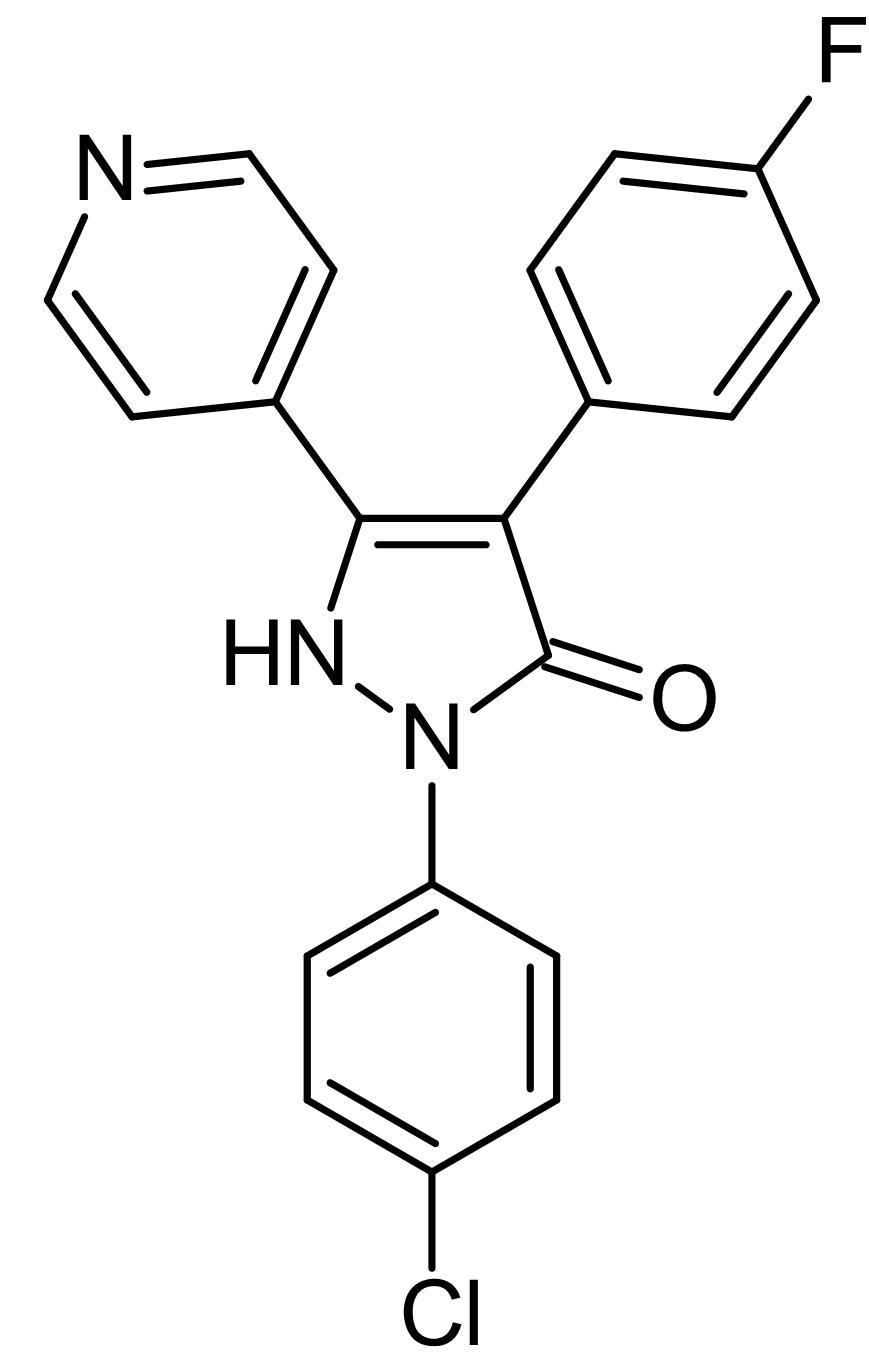 Chemical Structure - p38 MAP Kinase Inhibitor, p38 MAPK inhibitor (ab145872)
