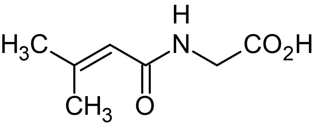 Chemical Structure - 3-Methylcrotonylglycine, amino acid metabolite (ab145925)