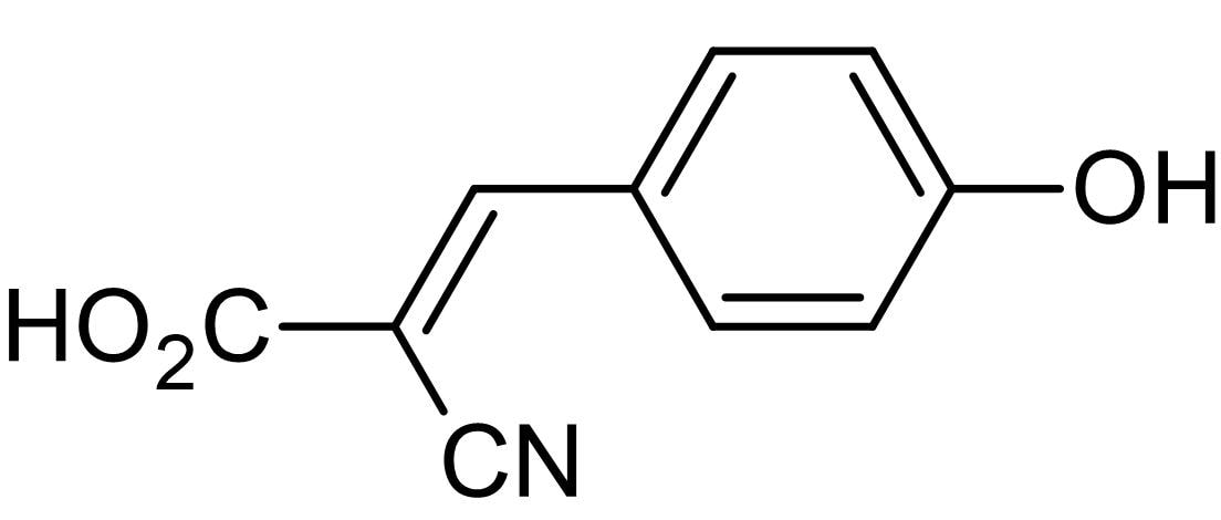 Chemical Structure - CHC, Monocarboxylic acid transport inhibitor (ab146008)