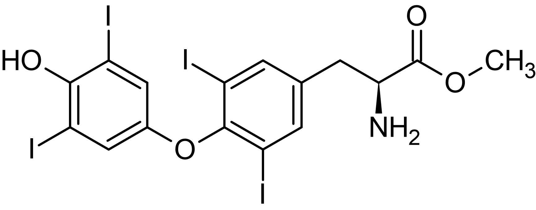 Chemical Structure - Thyroxine methyl ester, Malate dehydrogenase inhibitor (ab146114)